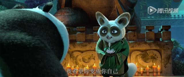 道教的范围,转向了佛学。要想成为自己,就必须先认识自己。师父说,乌龟大师在专研气的时候,曾闭关30年,只干了一件事,想我是谁这个问题。  乌龟大师还留下了一卷笔记,记录了传说中的熊猫之国,熊猫们传授了他气。在影片中,阿宝的熊猫父亲出现了,还带他回到家乡,学习怎样当一只真正的熊猫。