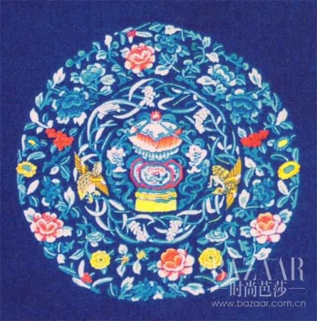 牡丹团花纹样图案