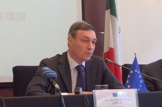 欧盟力赞中国支持自由贸易 呼吁中国开放市场