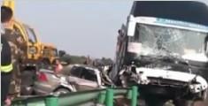 合六叶高速发生特大交通事故 一家四口当场身亡