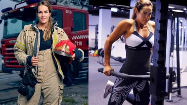 挪威最性感消防员火辣身材 貌美吸粉无数