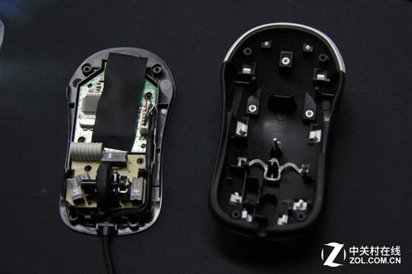 赛睿kinzu v2是入门级鼠标,内部结构并不十分复杂.