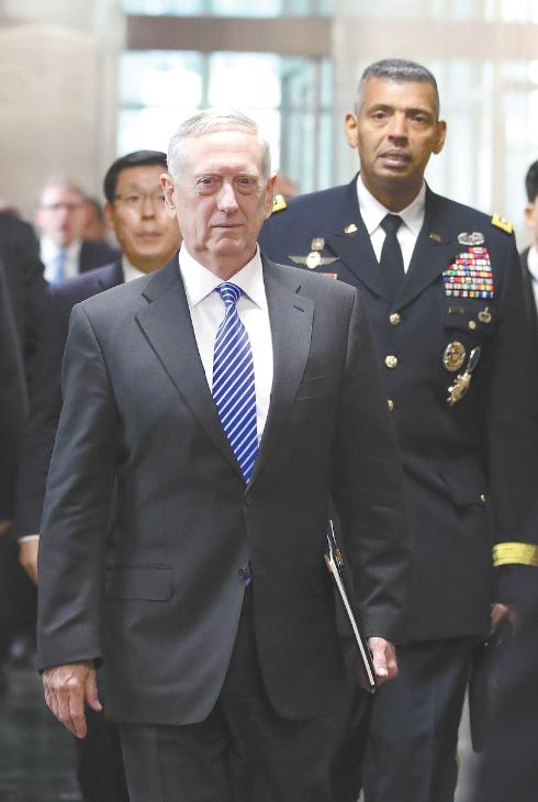 美新防长访韩极力为萨德辩护 拐弯抹角施压中国