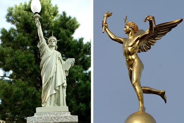 有男有女有土著,或俊或丑或呆萌的法国自由神像