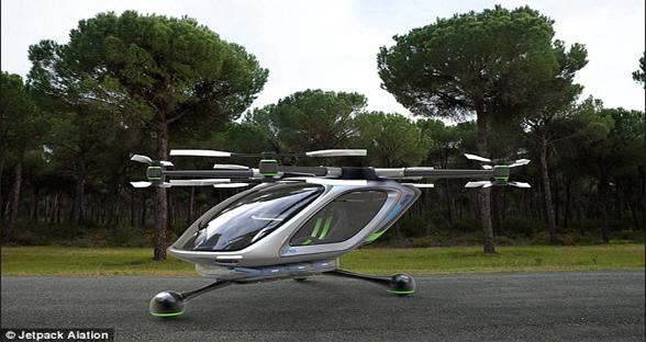单座式飞行汽车或半年后问世 可贴地2米飞行