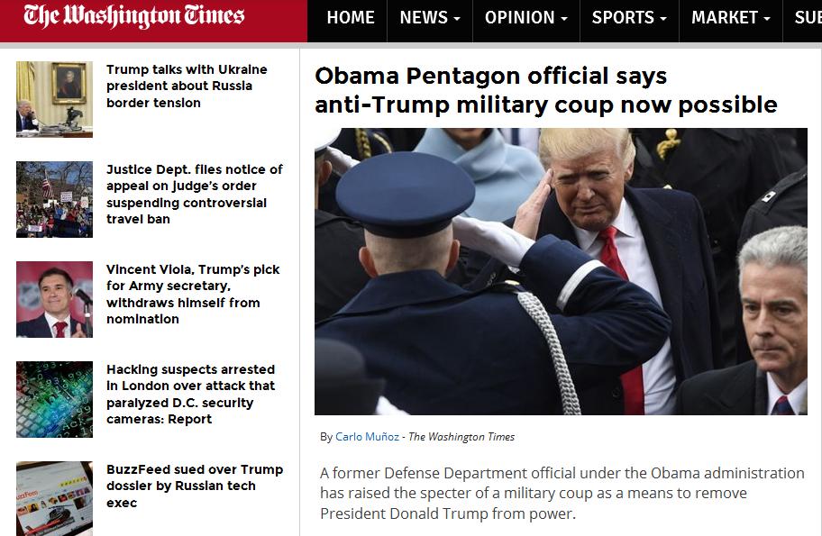 特朗普会被政变赶下台?奥巴马旧臣:有可能!