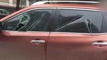 湖北一男子凌晨持长刀疯狂砍砸十多辆车