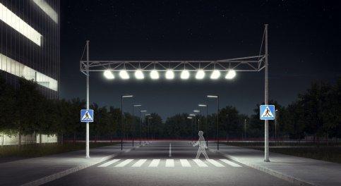 新型道路照明系统让过马路变得更安全