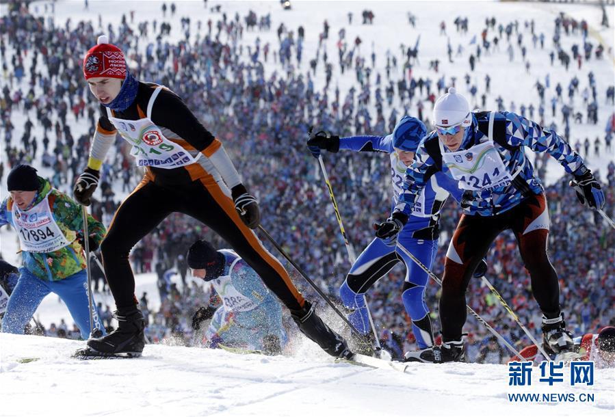 莫斯科:千人越野滑雪