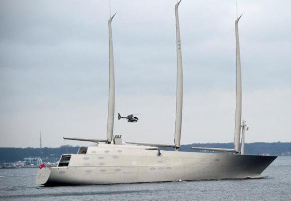 俄富豪打造世界最大帆船游艇 斥资2.6亿英镑