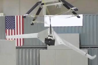 美军试验用大网回收无人机