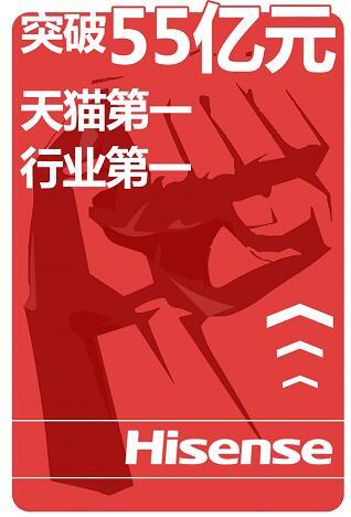 海信TV线上卖了55亿+ 高端大屏占3/4壁江山