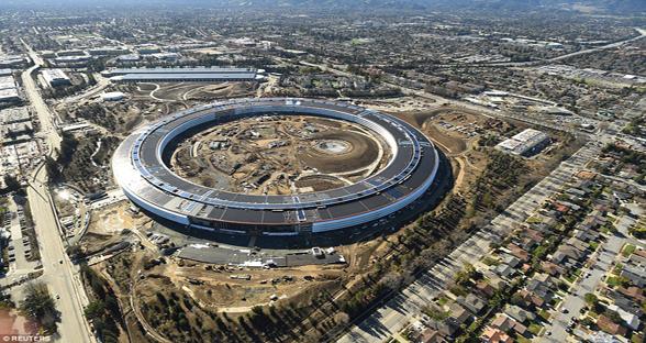 苹果新总部Spaceship几近完工 有望今春全部建成