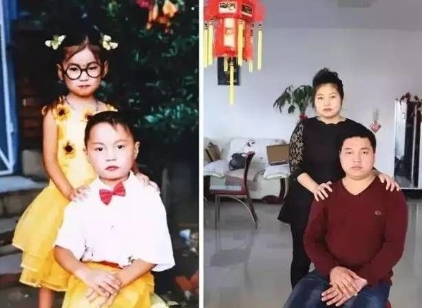 """他们5岁拍""""婚纱照"""",19年后成了真夫妻!网友:赶紧去翻家里的相册"""
