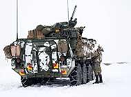 美陆军冰天雪地在德国战术演练