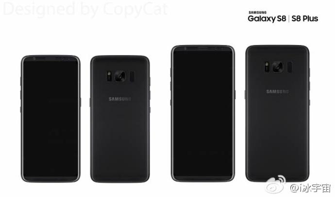 太惊艳!三星全新机皇Galaxy S8前面板曝光