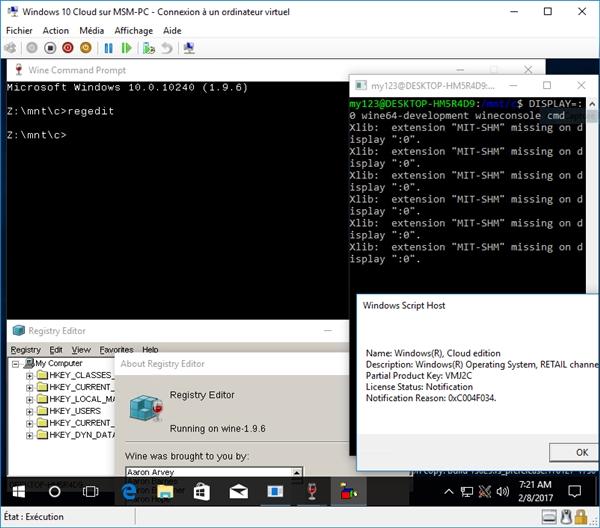 神秘系统win10 cloud遭破解运行exe:0元用专业版