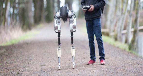双足机器人Cassie能够在各种路面上轻松行走