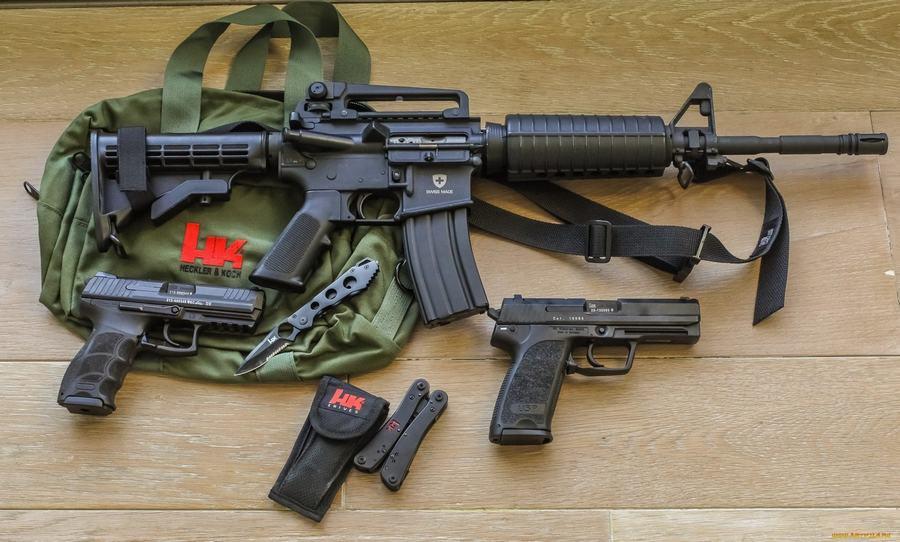 和ak47不同的是美国的ar15步枪,该枪也有不少改进型号.
