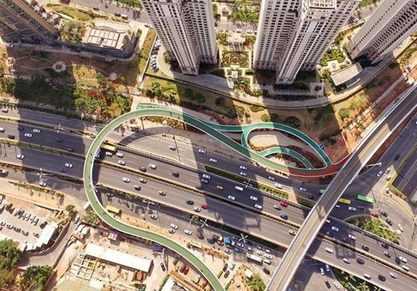 世界最长!中国首条空中自行车道:7.6公里畅骑
