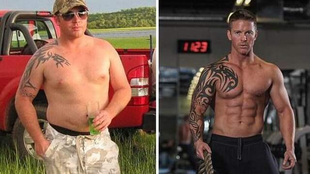 肥胖男子3周减掉38斤 12周练成健美身材