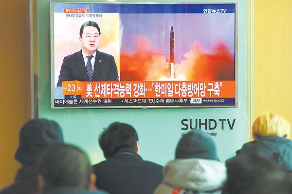 朝鲜突射导弹给美国信号 美方却说摆明直指日本