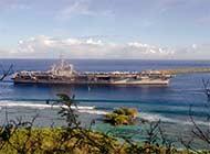 美航母驶离关岛向南海进发