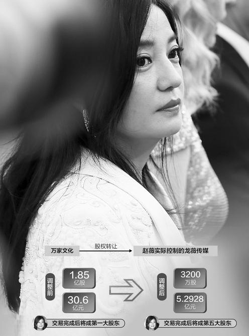 赵薇30亿生意或泡汤 龙薇传媒融资现重大不确定性