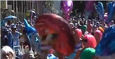 里约:街头游行预热狂欢盛会
