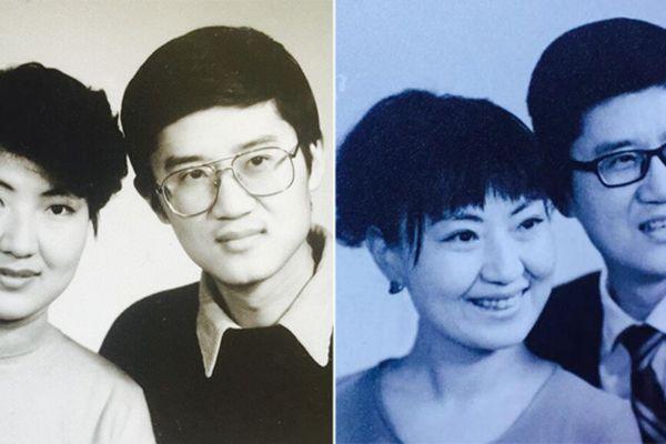结婚22年 夫妻几乎每年都拍一张纪念照