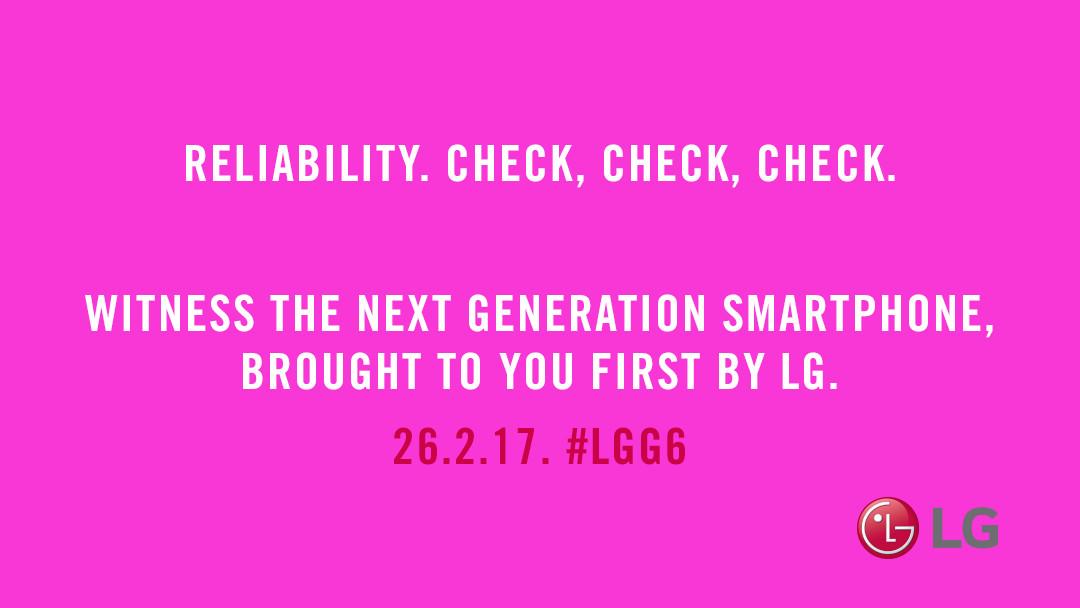 """LG G6大打质量牌 海报标语强调""""检查"""""""