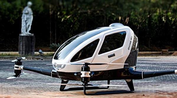 中国载客无人机首次运营:迪拜拉土豪