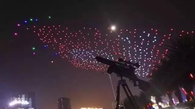 广州千架无人机编队背后  猎隼反无人机保驾护航