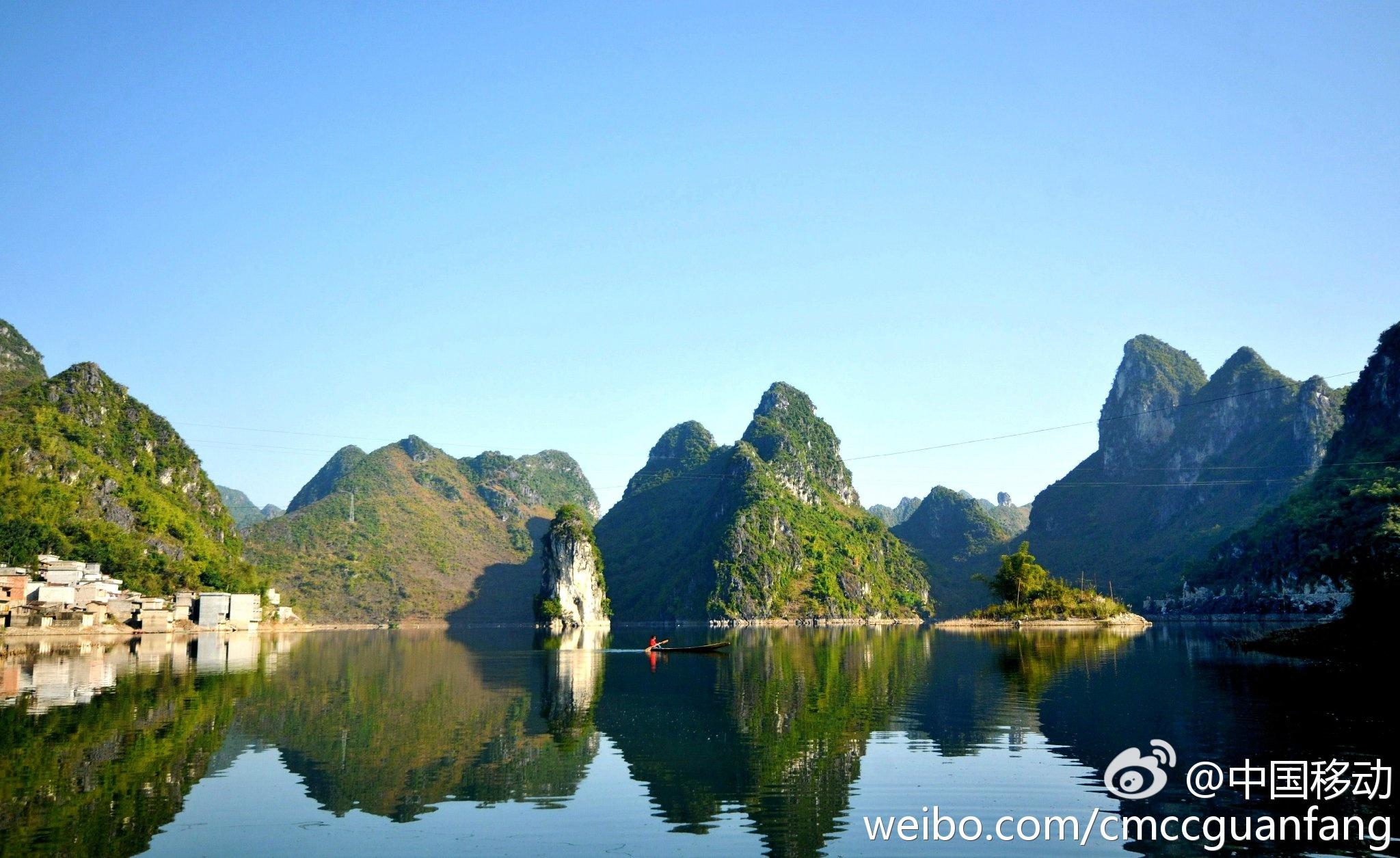 """#移动家族播报厅#广西上林,一个拥有40万人口的县城,素有广西""""首府后花园""""之美誉"""