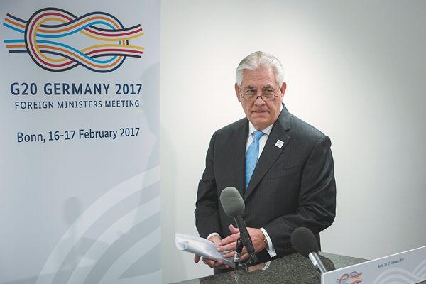 蒂勒森波恩G20外长会首秀,一中原则下将首见中国外长