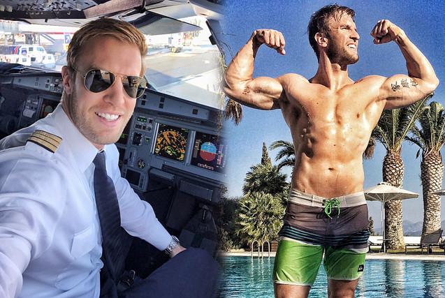 德帅哥飞行员晒健身照秀肌肉吸粉无数