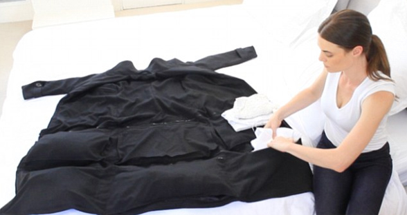 """把行李穿在身上:""""机场外套""""可承重15公斤"""