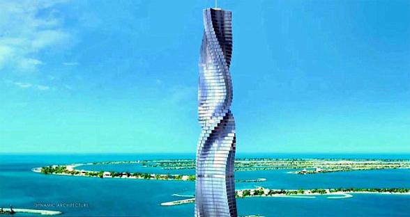 迪拜将建可旋转摩天大楼 顾客可变化角度欣赏美景
