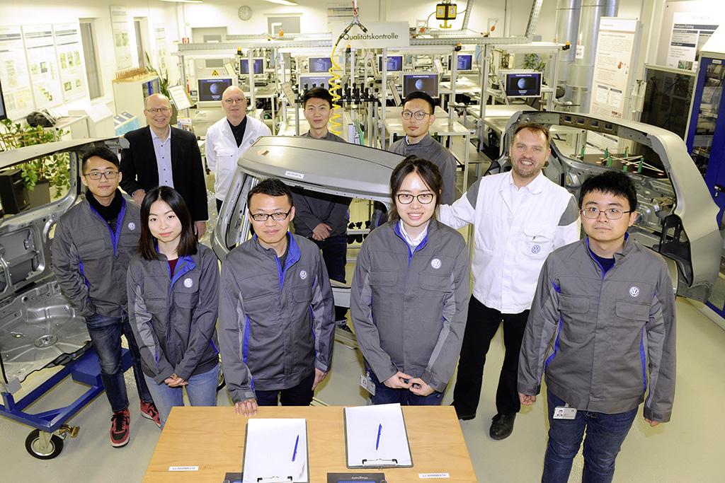中国工程专业学生在大众汽车的支持下研修双硕士学位
