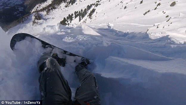 惊险!瑞士一男子滑雪道外滑雪遇雪崩侥幸逃生