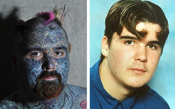英纹身最多男子全身刺青遭不平等待遇 曾被人捅伤