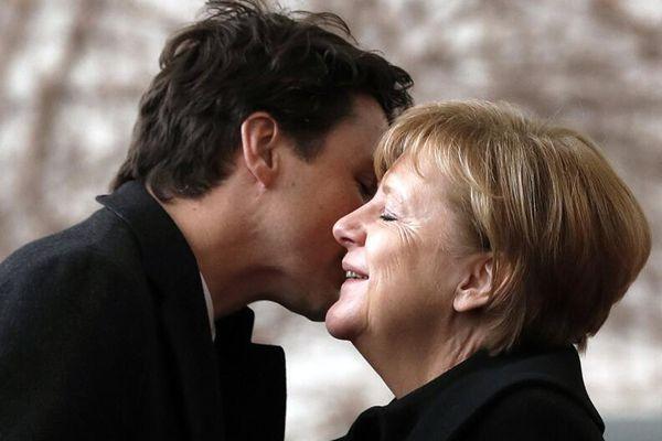 加拿大总理访问德国 对默克尔展开魅力攻势