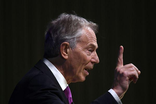 """英国前首相布莱尔发表""""留欧""""演讲 呼吁民众反对""""脱欧"""""""