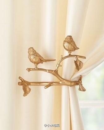 #早安#极具美感的窗帘系带设计,周末有空也想去换一个~ 