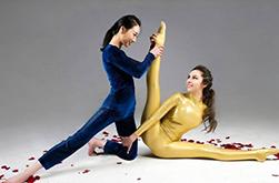 """春晚杂技""""双花争艳"""" 两国柔术美女义结金兰共秀柔术"""