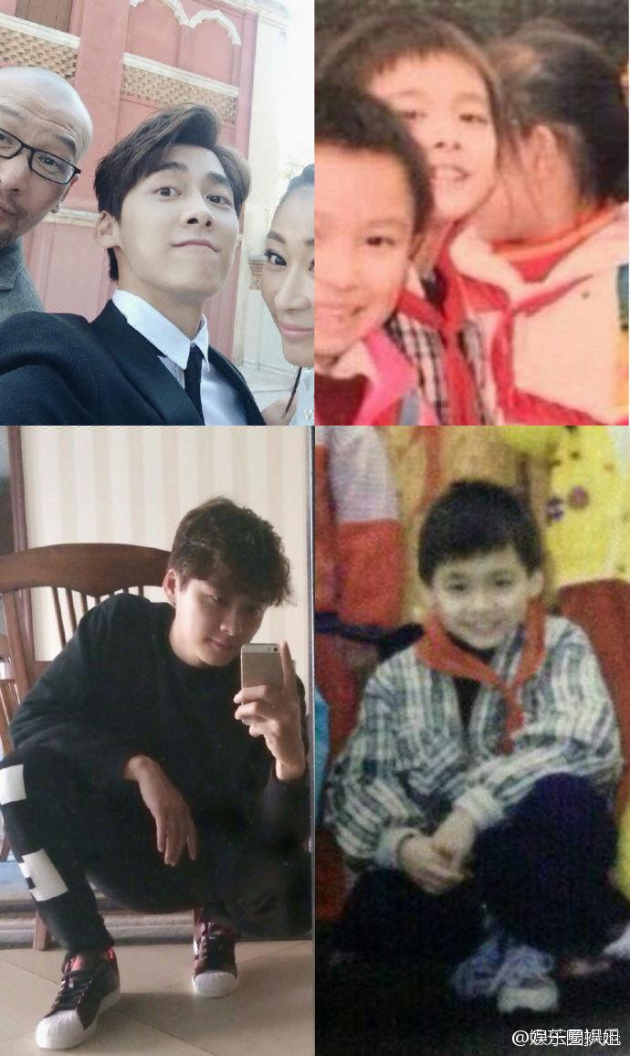 李易峰小时候vs长大后,时间总在转圈圈,一直都没变过啊,从小帅到大[污