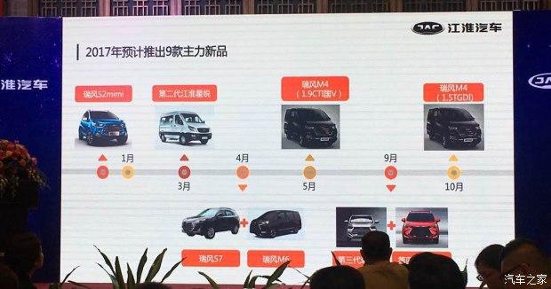 包含9款新车 江淮汽车2017年新车计划