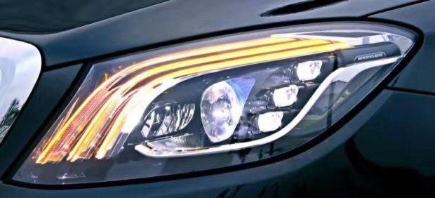 3月份首发 奔驰新款S级大灯细节曝光
