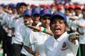 """印度纪念警察周 女孩自卫训练""""不让须眉"""""""