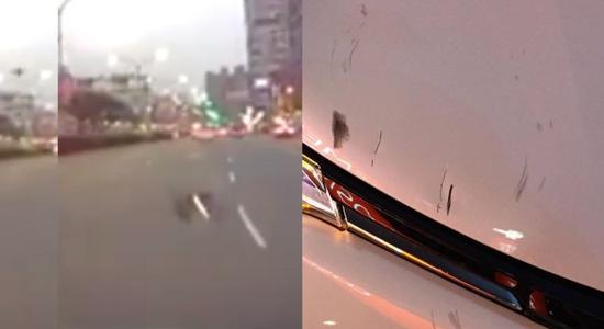 """台北司机疑遭无人机""""空袭"""" 紧急避让仍被刮擦"""